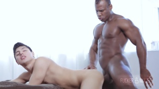 twink rides a cuban muscle hunk's huge cock