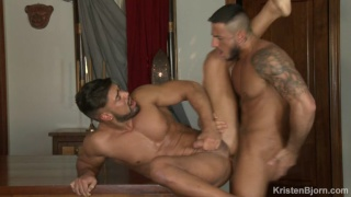 porn hunk introduces his new boyfriend in first porno together.