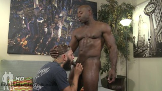hunk black man fucks hairy tattooed country bumpkin