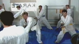 guy forces to suck dick after his intense karate class
