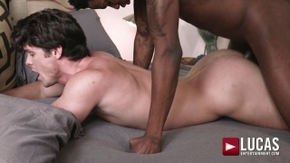 power bottom gets slammed by huge black cock