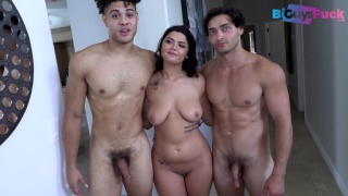 guy's first MFF bisexual threesome