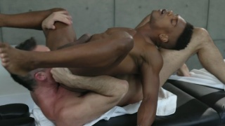 White Hunk Eats Black Stud's Hole in Unique Rimming Position