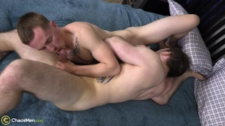 Two Bisexual Guys Having Sex, One Gets Fucked
