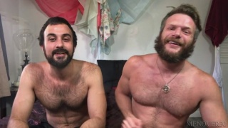 Bearded Lovers Fuck Each Other in Homemade Isolation Video