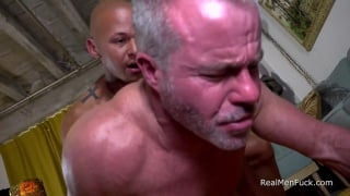 Ripped Bald Stud Pounds Daddy's Hole Hard
