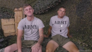 Army Boys Suck & Fuck on Cases of Ammo
