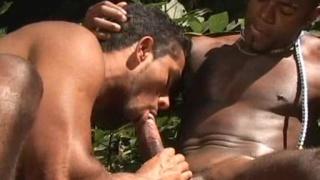Gabriel gets fucked by a dark black stud