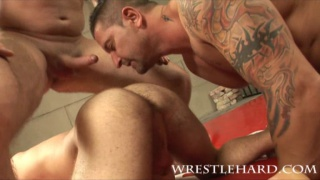 Group wrestling and anal action