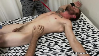 bearded hunk tickled all over