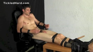 Straight Stud Aiden Turned On By Tickle Torture