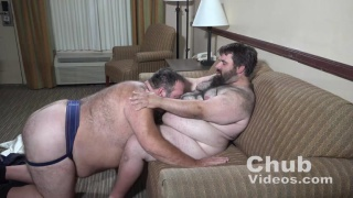 one hairy chub blows another