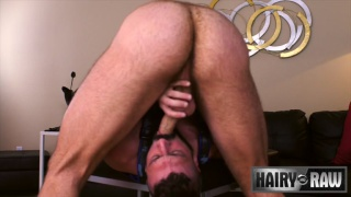 handsome bearded daddy fucks guy with his huge cock