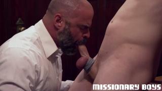 older mormon man sucks a young lad's cock