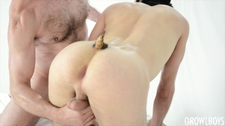 guy with a butt full of semen begins a transformation