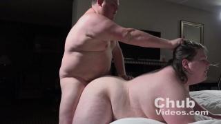 chub gets a hair pulling hard fuck