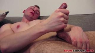 ginger with smoking hot body & good-sized prick jacks off