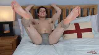british lad with furry pubes gets his first handjob