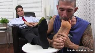 Parole Officer makes parolee worship his feet