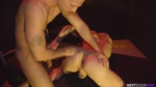 Hot Stud Destroys this Cum Whore's Hole