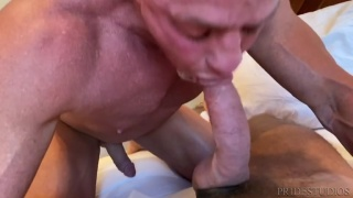 Very Well-Hung Lovers Fuck Each Other in Bed