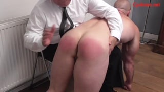 Bar Bouncer Gets Beefy Ass Spanked with Hair Brush