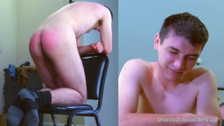 19-Year-Old Cutie Gets His First Spanking