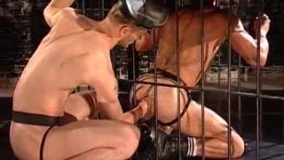 leather master fist fucking bottom pig