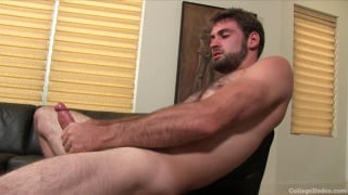 Sexy Bearded College Dude Beating Off