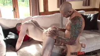 Tattooed Muscle Hunk Fucking Ass
