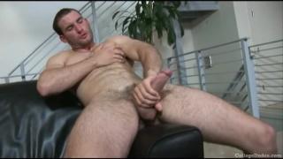 Stud Jerks Big Uncut Cock