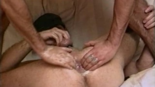 2 Guys on a Double Header Dildo