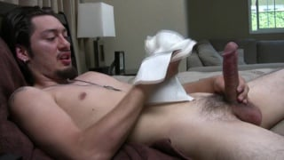 Sexy Latino Jerking Big Fat Cock