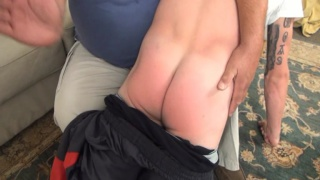 Straight Welder Gets Ass Spanking