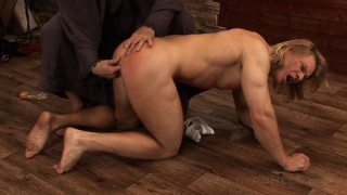 Spanking Blond Muscle Stud