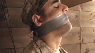 Buff Soldier Bondage