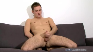 Blond Brit Wanking Off