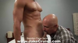 Older man services hot jock