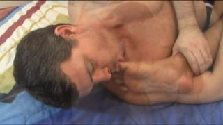 Daddy Sucking Asian Boy's Toes