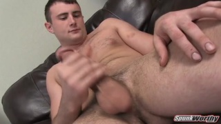 Straight Wrestler Beating Off