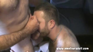 Hairy Well-Hung Amateurs Beating Off Together