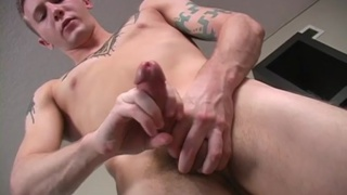 Military Stud Stroking Cock