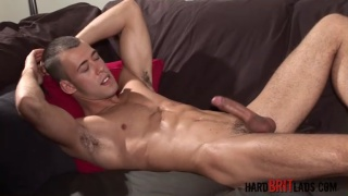Hung Muscle Brit Beating Off