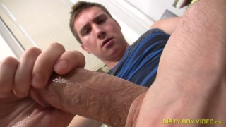 Dirty Blond Boy Jacking Off