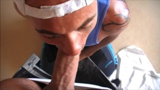 French Guy Sucking a Big Dick