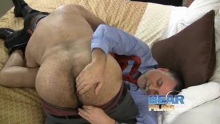 Dude bends over table as five hotties with strapons take turns fucking his ass - 3 part 9
