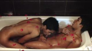 Asian Twinks in Bathtub