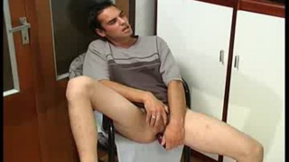 Assplay with a toy in tight asshole