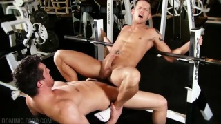 Riding Cock in the Gym
