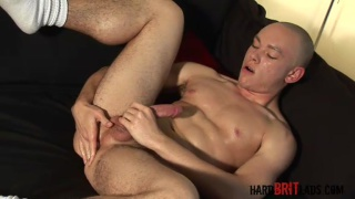Bald Rugby Lad Beating Off Big Dick